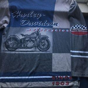 VERY RARE🔺Vintage Harley Davidson Long Sleeve Tee